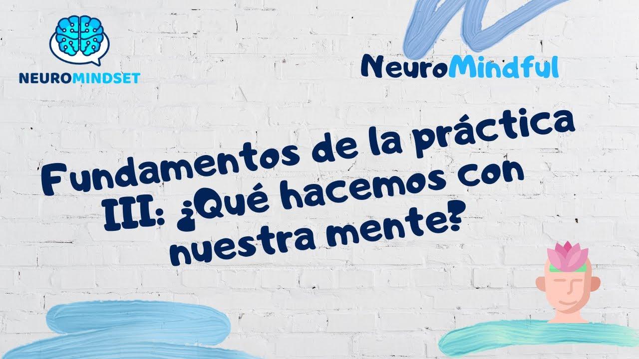 🔴  ¿Qué hacemos con nuestra mente en el mindfulness?